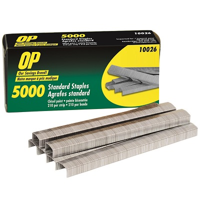 STAPLES-STANDARD CHISEL-P OINTED, OP BRAND