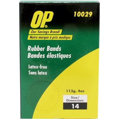"""RUBBER BANDS-1/4LB. BOX # 14 1/16""""X2"""" OP BRAND"""