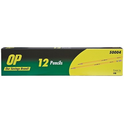 PENCIL-WOODCASE HB TIPPED OP BRAND 12/BOX